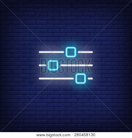 Mixing Console Neon Vector & Photo (Free Trial) | Bigstock