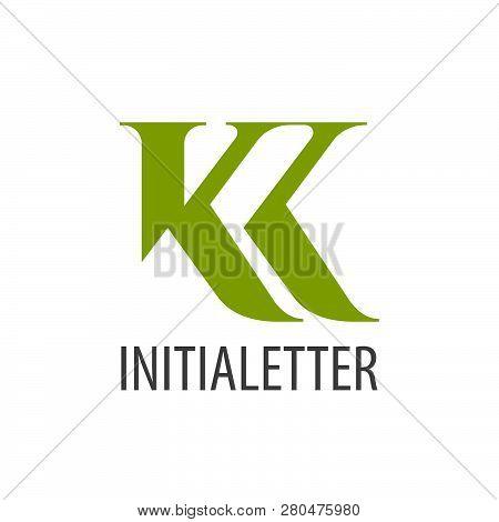 Initial Letter Kk Green Logo Concept Design. Symbol Graphic Template Element Vector