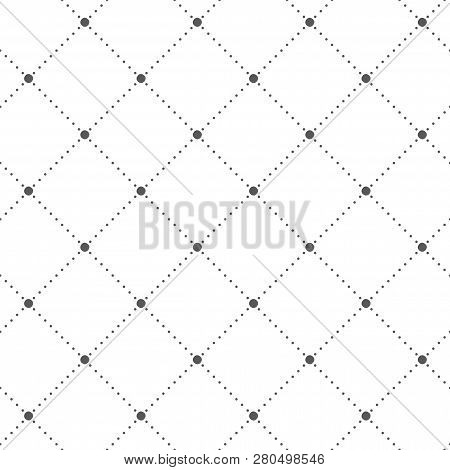 Abstract seamless pattern. Dots. Geometric fashion design print.  Furniture upholstery. Monochrome poster