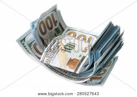 Bills Dollars And Euros Scattered In Disarray