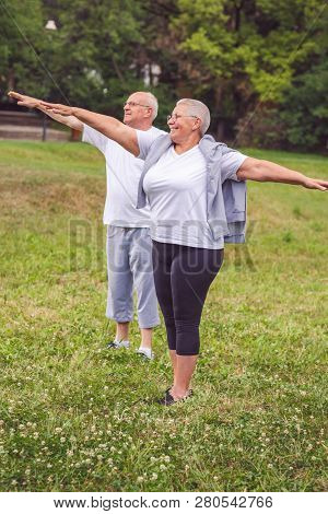 Cardio Exercise For Senior- Senior Couple Exercise And Having Fun Together