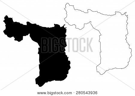 Suphan Buri Province (kingdom Of Thailand, Siam, Provinces Of Thailand) Map Vector Illustration, Scr