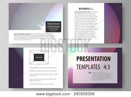 6add7c30bfa93 Set of business templates for presentation slides. Easy editable abstract  vector layouts. Retro style