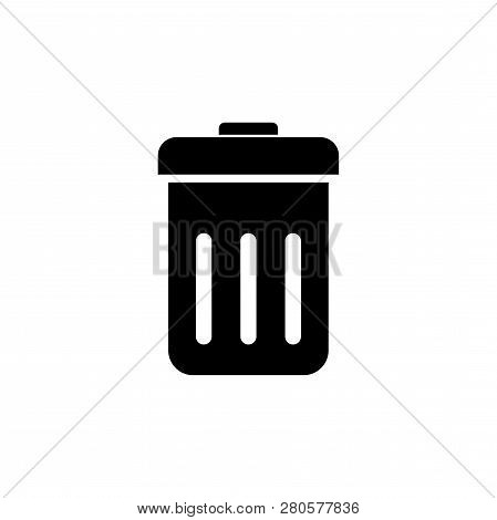 Trash Can Vector Icon  Trash Can Vector Isolated On White Background, Trash Can Image, Trash Can Sym