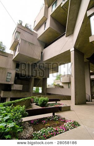 Habitat 67 housing complex poster