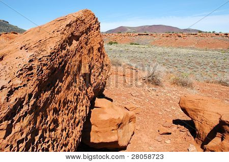 Wupatki National Monument ruins and rock detail