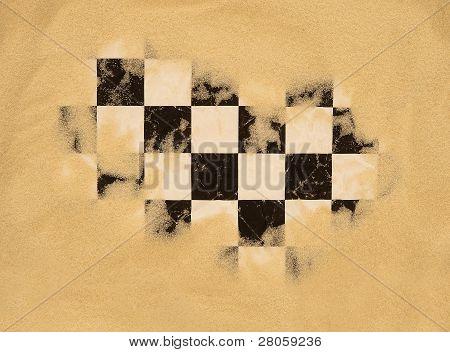 bandiera a scacchi di gara