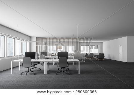 Stylish White Office Interior