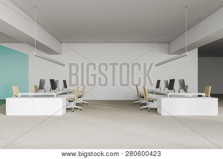 Side View Of White Office