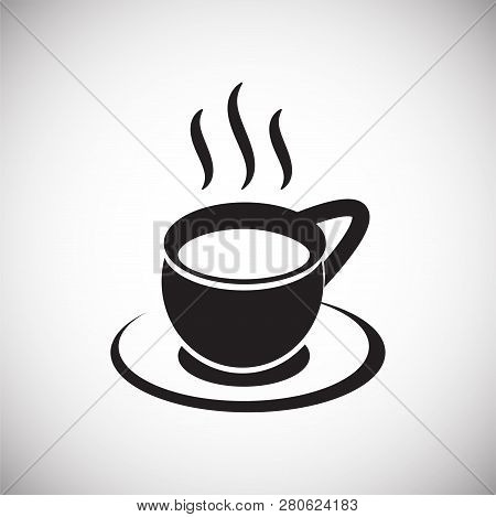 Cup With Hot Tea On White Background Icon