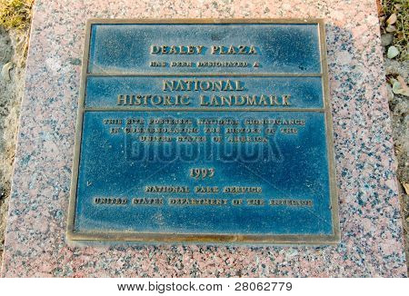 Dealey Plaza marker