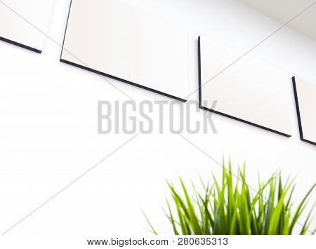 The Blank Canvas Picture Frame On The Wall