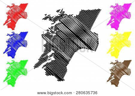 Nord-trondelag (administrative Divisions Of Norway, Kingdom Of Norway) Map Vector Illustration, Scri