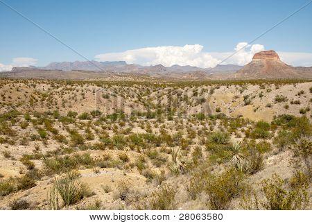 Castellan Peak and Chisos Mountains