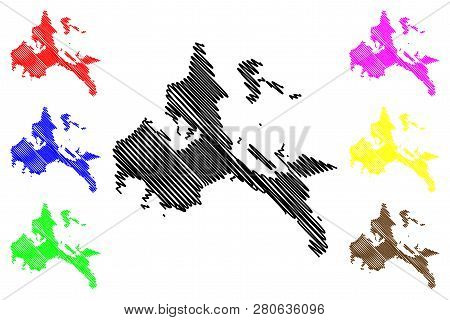 Calabarzon Region (regions And Provinces Of The Philippines, Republic Of The Philippines) Map Vector