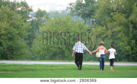 Family, Walk On Nature
