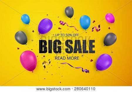 Big Sale Banner. Advertising Poster. Sale Background. Vector Illustration