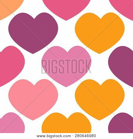 Seamless Pattern Of Hearts, Great Design For Any Purposes. Graphic Modern Pattern. Natural Pattern.