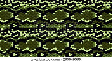 Snake Skin Cobra Pattern For Decorative Design. Wallpaper Pattern. Rattlesnake Vector. Trendy Snake