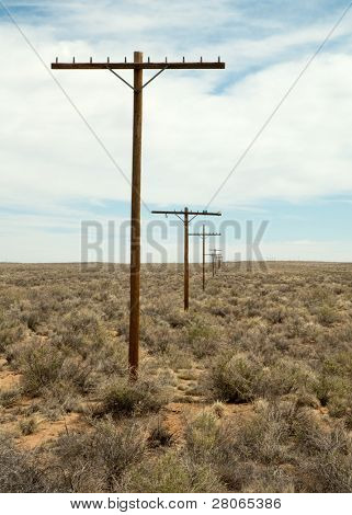 old route 66 telephone poles
