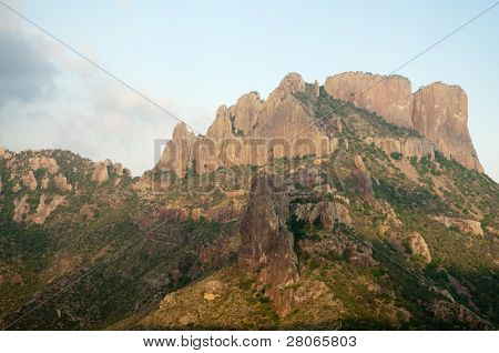 the Chisos Mountains on Lost Mine Trail