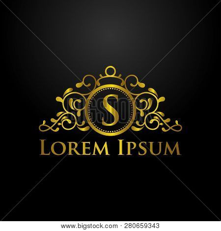 Luxury Logo, Letter S Logo, Classic And Elegant Logo Designs For Industry And Business, Interior Log