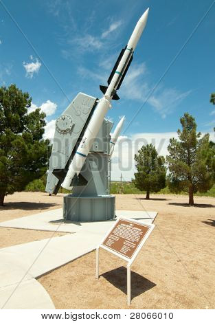 White Sands Missile Range Museum missile display