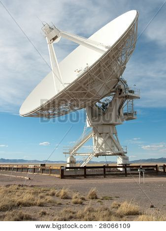 radio astronomy dish at the Very Large Array poster