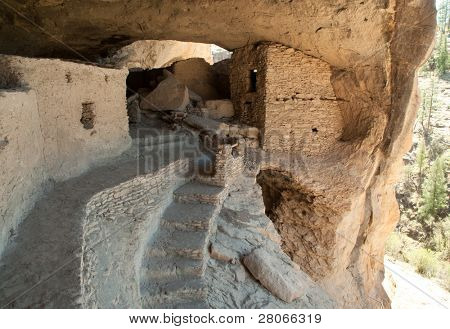 Gila Cliff Dwellings National Monument  ruins