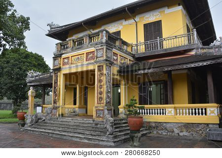 The Tinh Minh Building In The Dien Tho Residence Complex In The Imperial City, Hue, Vietnam
