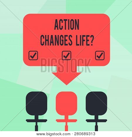 Conceptual Hand Writing Showing Action Changes Things. Business Photo Text Overcoming Adversity By T