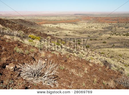 cinder cone and desert brush