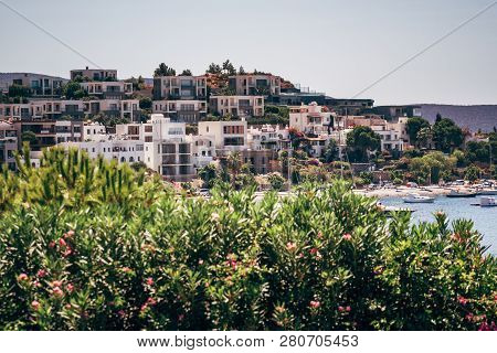 Bodrum, Turkey - Aug 29, 2015: Holiday Resorts And One Of The Beautiful Bays Of Bodrum