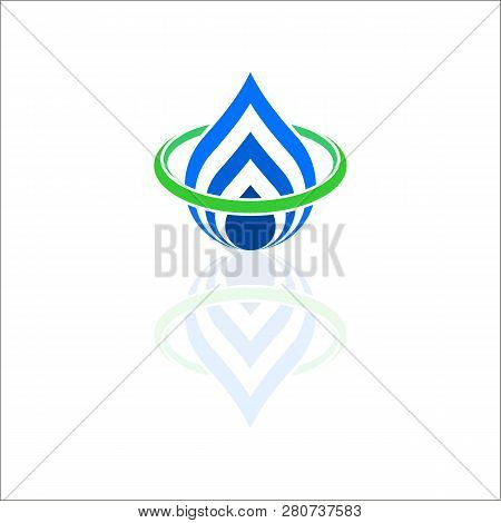 Water And Leaf Ecology Logo. Blue Water Logo. Water Best Logo. Aqua Logo. Bright Water Logo. Eco Log