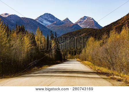 Stewart Cassiar Highway 37 In Fall Bc Canada