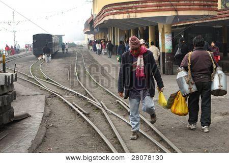 DARJEELING, INDIA - DECEMBER 3: The Darjeeling Himalayan Railway, nicknamed the