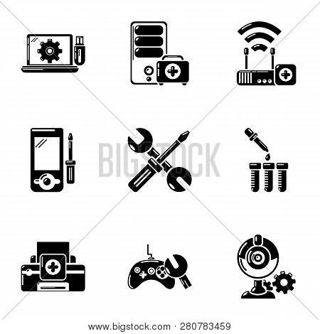 Pc Care Icons Set. Simple Set Of 9 Pc Care Icons For Web Isolated On White Background