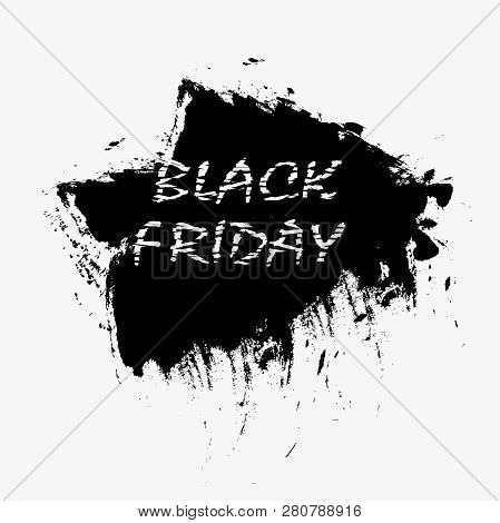 Abstract Vector Black Friday Sale Layout Background. Dark Background. Vector Illustration
