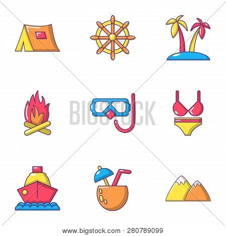 Breakout Icons Set. Flat Set Of 9 Breakout Icons For Web Isolated On White Background