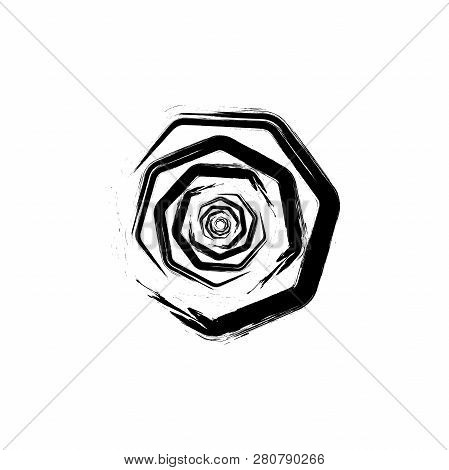 White Background. Tunnel Abstract. Twisted Lines. Abstract Fractal Background. Logo. Glitch Lines.