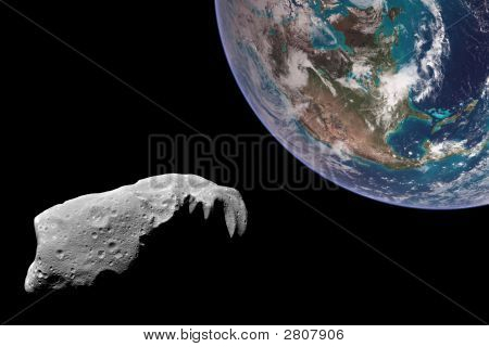 An Asteroid Aims For Earth.