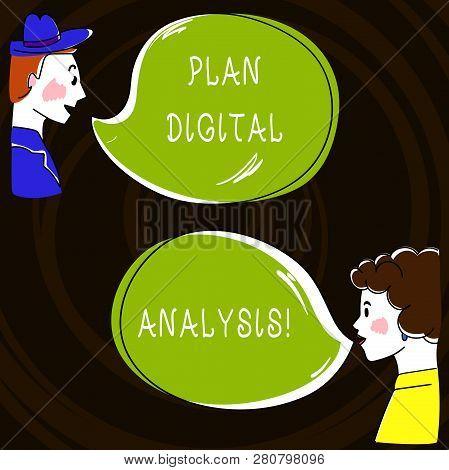 Text Sign Showing Plan Digital Analysis. Conceptual Photo Analysis Of Qualitative And Quantitative D
