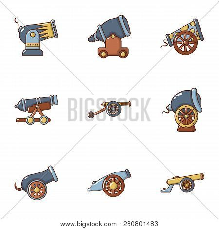 Volley Icons Set. Flat Set Of 9 Volley Icons For Web Isolated On White Background