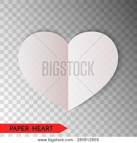 White Paper Heart Vector & Photo (Free Trial) | Bigstock