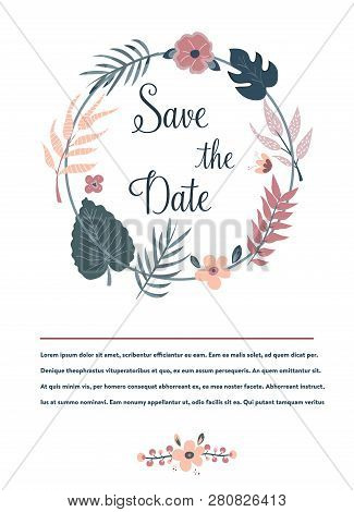 Save Date Banner Vector Photo Free Trial Bigstock