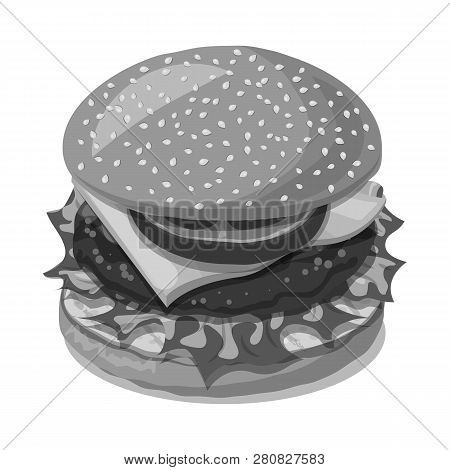 Vector Illustration Of Burger And Sandwich Icon. Set Of Burger And Slice Vector Icon For Stock.