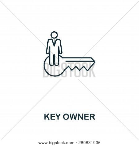 Key Owner Outline Icon. Thin Line Style Design From Blockchain Icons Collection. Creative Key Owner