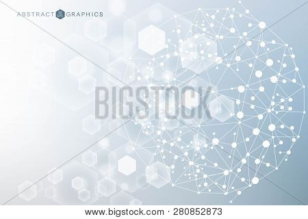 Big Data Visualization Background. Modern Futuristic Virtual Abstract Background. Science Network Pa