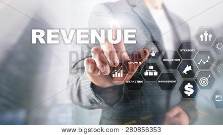 Increase Revenue Concept. Planing Growth And Increase Of Positive Indicators In His Business. Mixed