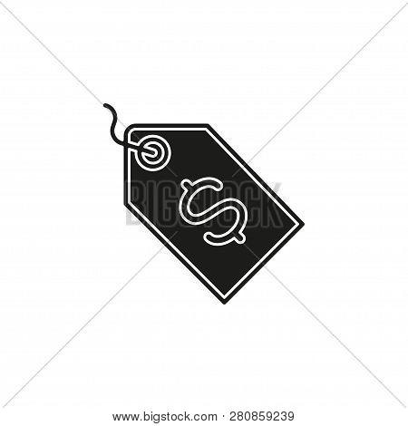 Vector Dollar Tag Sign, Money Dollar Icon - Dollar Bill Symbol, Money Label. Flat Pictogram - Simple